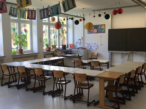 Klassenzimmer Oberstufe